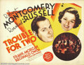 "Movie Posters:Comedy, Trouble for Two/Piccadilly Jim (MGM, 1936). (2) Half Sheets (22"" X28""). Robert Montgomery was a staple of the MGM stable of...(Total: 2 Movie Posters Item)"