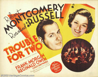 "Trouble for Two/Piccadilly Jim (MGM, 1936). (2) Half Sheets (22"" X 28""). Robert Montgomery was a staple of the..."