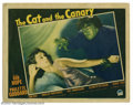 """Movie Posters:Horror, Cat and the Canary, The (Paramount, 1939). Lobby Card (11"""" X 14""""). After the reading of a will, Paulette Goddard's character..."""