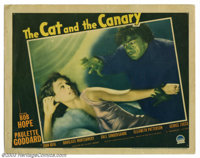 "Cat and the Canary, The (Paramount, 1939). Lobby Card (11"" X 14""). After the reading of a will, Paulette Godda..."