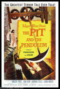 """Movie Posters:Horror, Pit and the Pendulum, The (American International, 1961). One Sheet (27"""" X 41""""). The Corman/Poe/Price team was at it again, ..."""