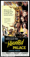 """Haunted Palace, The (American International, 1963). Three Sheet (41"""" X 81""""). Loosely based on H.P. Lovecraft's..."""