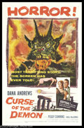 """Movie Posters:Horror, Curse of the Demon (Columbia, 1957). One Sheet (27"""" X 41""""). Jacques Tourneur directed this classic horror film which stars D..."""
