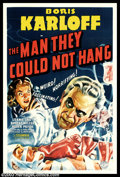 """Movie Posters:Horror, Man They Could Not Hang (Columbia, 1939). One Sheet (27"""" X 41""""). Boris Karloff plays a mad scientist obsessed with bringing ..."""