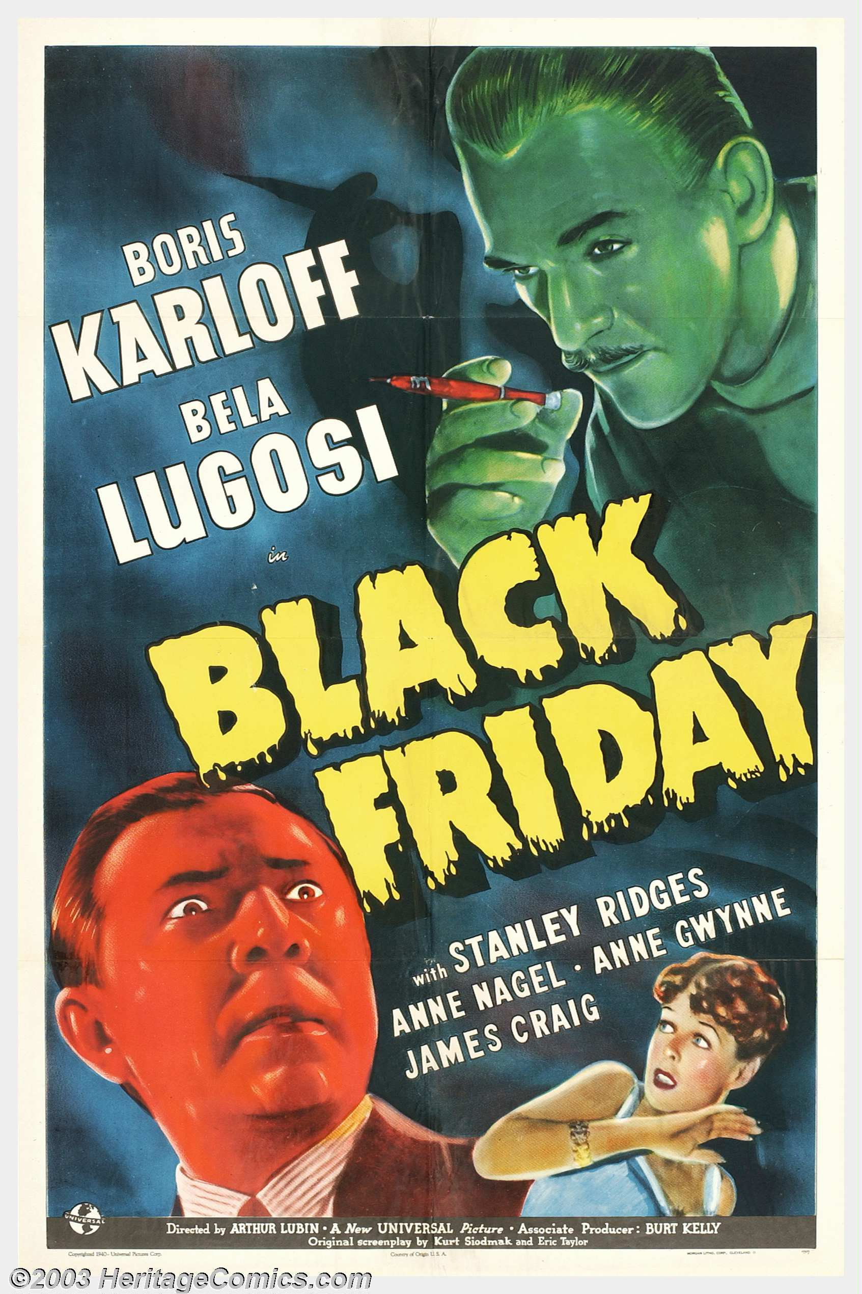 Black Friday Universal 1940 One Sheet 27 X 41 The Masters Lot 1232 Heritage Auctions