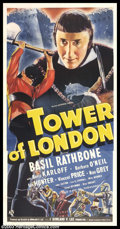 """Movie Posters:Horror, Tower of London (Universal, 1939). Three Sheet (41"""" X 81""""). Historical melodrama based on Tudor history, about the evil Duke..."""