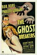 "Movie Posters:Comedy, Ghost Breakers (Paramount, 1940). One Sheet (27"" X 41""). Bob Hope and Paulette Goddard star in one of the best pictures to e..."