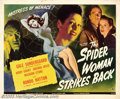 "Movie Posters:Horror, The Spider Woman Strikes Back (Universal, 1946). Half Sheet (22"" X 28""). Gale Sondergaard recreates her role as the murderou..."