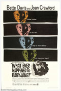 """Movie Posters:Horror, Whatever Happened to Baby Jane (Warner Brothers, 1962). One Sheet (27"""" X 41""""). Robert Aldrich's macabre tale of two washed-u..."""