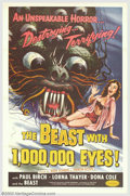 "Movie Posters:Science Fiction, The Beast with 1,000,000 Eyes! (American Releasing Corp., 1955). One Sheet (27"" X 41""). Legendary producer Roger Corman brou..."