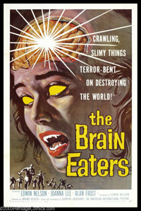 "Brain Eaters, The (American International, 1958). One Sheet (27"" X 41""). Parasites from the center of the Eart..."