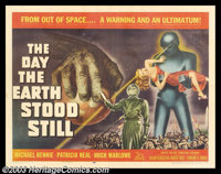 "Day the Earth Stood Still (20th Century Fox, 1951). Half Sheet (22"" X 28""). Robert Wise's classic science-fict..."
