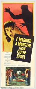 """Movie Posters:Science Fiction, I Married a Monster From Outer Space (Paramount, 1958). Insert ( 14"""" X 36""""). One of the 1950s better science-fiction efforts..."""