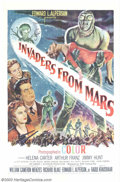 "Movie Posters:Science Fiction, Invaders From Mars (20th Century Fox, 1953). One Sheet (27"" X 41""). The science-fiction, red-scare boom of the 1950s produce..."