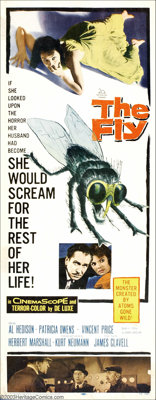 """Science Fiction Insert Lot (20th Century Fox, 1958-59). (2) Inserts (14"""" X 36""""). """"The Fly"""" was one o..."""