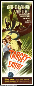 "Movie Posters:Science Fiction, Target Earth (Allied Artists, 1954). Insert (14"" X 36""). This film, based on Paul W. Fairman's short story ""Deadly City,"" ha..."