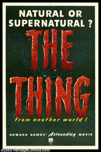"""The Thing From Another World (RKO, 1951). One Sheet (27"""" X 41""""). Adapted from William Campbell's novel, """"..."""