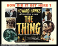 "Movie Posters:Science Fiction, The Thing From Another World (RKO, 1951). Style B Half Sheet (22"" X28""). Producer Howard Hawks' strong and suspenseful film..."