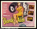"Movie Posters:Film Noir, Blonde Alibi (Universal, 1946). Half Sheet (22"" X 28""). Tom Neal plays an honest adventurer, who has been in trouble in the ..."