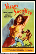 "Movie Posters:Adventure, Virgin Sacrifice (Releasing Corporation of Independent Producers,1959). One Sheet (27"" X 41""). Have you ever seen this movi..."