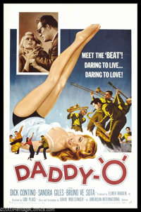 """Daddy-O (AIP, 1959). One Sheet (27"""" X 41""""). Phil, a part-time truck driver, and singer, who is far too square..."""