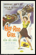 "Movie Posters:Bad Girl, Hot Rod Girl (American International, 1956). One Sheet (27"" X 41"").Lori Nelson races a 1955 T-Bird in this thrill hungry te..."