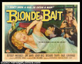 "Movie Posters:Bad Girl, Blonde Bait (Associated Film Releasing Corp., 1956). Half Sheet(22"" X 28""). This routine crimer told the story of a girl wh..."