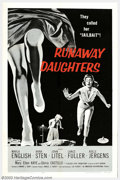 "Movie Posters:Drama, Runaway Daughters (AIP, 1956). One Sheet (27"" X 41""). Although everyone who knows B films knows of Roger Corman, not as many..."