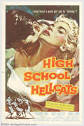 """Movie Posters:Drama, High School Hellcats (AIP, 1958). One Sheet (27"""" X 41""""). """"What must a good girl say to belong?"""" We don't care just as long a..."""