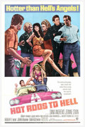 "Movie Posters:Cult Classic, Hot Rods to Hell (MGM, 1967). One Sheet (27"" X 41""). Okay, so it's a little late in the ""hot rod"" series. This gem came alon..."