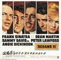 "Movie Posters:Drama, Ocean's 11 (Warner Brothers, 1960). Six Sheet (81"" X 81""). Frank Sinatra, Dean Martin, Sammy Davis Jr., Peter Lawford, and t..."