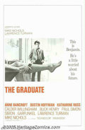 "Movie Posters:Comedy, The Graduate (Embassy, 1967). One Sheet (27"" X 41"") and Lobby Card(11""x14""). Dustin Hoffman became an overnight sensation a...(Total: 2 items Item)"