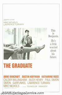 "The Graduate (Embassy, 1967). One Sheet (27"" X 41"") and Lobby Card (11""x14""). Dustin Hoffman became..."