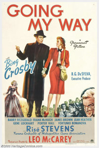 "Going My Way (Paramount, 1944). One Sheet (27"" X 41""). Bing Crosby won his only Oscar in this story of a pries..."