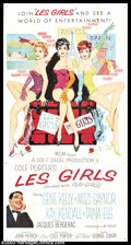 """Movie Posters:Musical, Les Girls (MGM, 1957). Three Sheet (41"""" X 81""""). MGM musical told inflashback style, starring Mitzi Gaynor and Taina Elg as ..."""