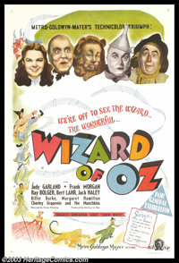 """The Wizard of Oz (MGM, 1939). Australian One Sheet (27"""" X 40""""). This poster is an amazing find that, to our kn..."""