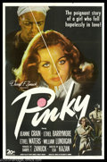"Movie Posters:Drama, Pinky (20th Century Fox, 1949). One Sheet (27"" X 41""). Director Elia Kazan took on a hot topic well ahead of its time when h..."