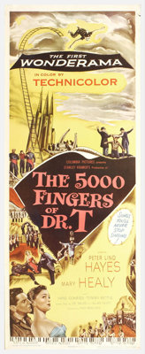 """The Five Thousand Fingers of Dr. T (Columbia, 1953). Insert (14"""" X 36""""). What becomes of a little boy who does..."""