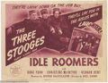 "Movie Posters:Comedy, Idle Roomers (Columbia, 1944). Title Lobby Card (11"" X 14""). TheStooges are bellhops at a hotel, where a vaudeville couple ..."