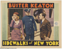 """Sidewalks of New York (MGM, 1931). Lobby Card (11""""x14""""). Buster Keaton was one of the most gifted comedians to..."""
