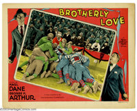 "Brotherly Love (MGM, 1928). Lobby Card (11"" X 14""). George K. Author worked with Karl Dane in a series of very..."