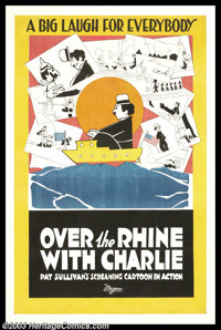 "Over the Rhine With Charlie (Universal, 1918). One Sheet (27"" X 41""). This cartoon film short ran six minutes..."