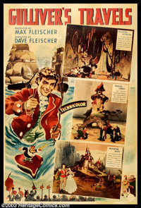 "Gulliver's Travels (Paramount, 1936). Photo Gelatin (40"" X 60""). Animators Dave and Max Fleischer made ""G..."