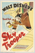 """Movie Posters:Animated, Sky Trooper (RKO, 1942). One Sheet (27"""" X 41""""). Walt Disney was a master animator who created some of the most enduring cart..."""