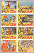 "Movie Posters:Animated, Three Caballeros (RKO, 1944). Lobby Card Set. (11"" X 14""). DonaldDuck becomes the perfect American tourist when he goes to ...(Total: 8 pieces Item)"