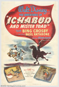 "Movie Posters:Animated, Ichabod and Mr. Toad (RKO, 1949). One Sheet (27"" X 41""). This was a""transition"" picture (so to speak) for Disney as during,..."
