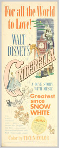 "Movie Posters:Animated, Cinderella (RKO, 1950). Insert (14"" X 36""). Walt Disney used thefairy tale classic ""Cinderella"" to return to the full-lengt..."