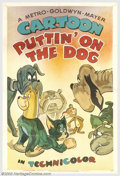 "Movie Posters:Animated, Puttin' On The Dog (MGM, 1944). One Sheet (27"" X 41""). Some of theearly posters for Tom and Jerry cartoons don't quite capt..."