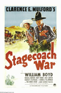 "Movie Posters:Western, Stagecoach War (Paramount, 1940). One Sheet (27"" X 41""). WilliamBoyd returns as Hopalong Cassidy, this time trying to help ..."