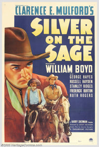 """Silver on the Sage (Paramount, 1939). One Sheet (27"""" X 41""""). Hopalong Cassidy, disguised as a high stakes gamb..."""